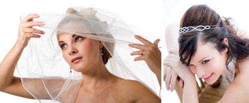 bridal veils and tiaras