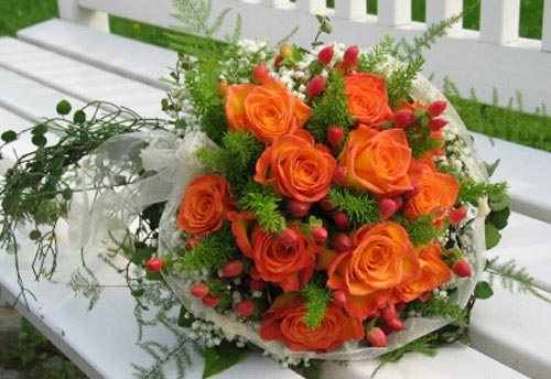 orange bridal bouquet pictures 1
