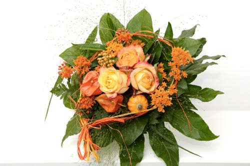 orange bridal bouquet pictures 10