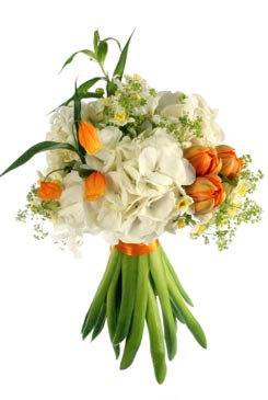 ���� ����� ������ orange-bridal-bouque