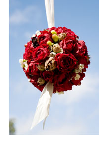 pomander flower bouquet - wedding table centerpiece