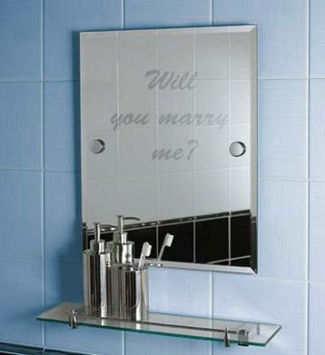 Message on the mirror, marriage proposal.