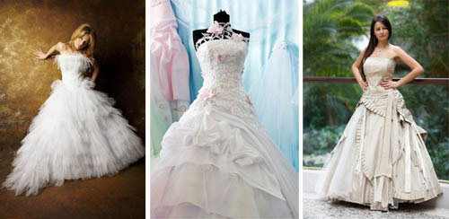 3 traditional bridal gowns