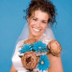 blue bridal bouquet pictures 8