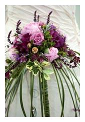 cresent bouquet - bridal bouquet