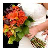 hand tied bouquet, loose tied bouquet, clutch bouquet - bridal bouquets