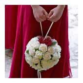 pomander bouquet, kissing ball bouquet - bridal bouquets