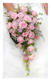 shower bouquet, cascading bouquet, trail bouquet, tear drop bouqueet - bridal bouquets