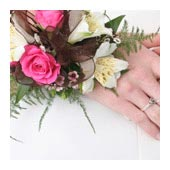 wrist bouquet, flower bracelet bouquet - bridal bouquets