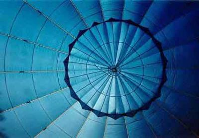 Picture of the inside of the hot air balloon, <br>from Westwind Balloon Co
