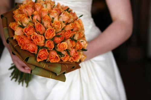 orange bridal bouquet pictures 7