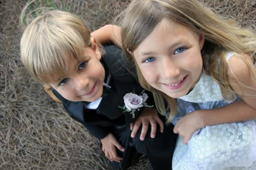 young ring bearer, pageboy, train bearer - bridal party
