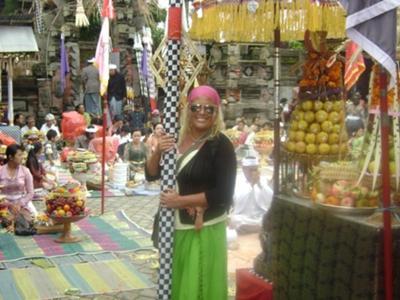 Serena at the Hindu Temple Bali