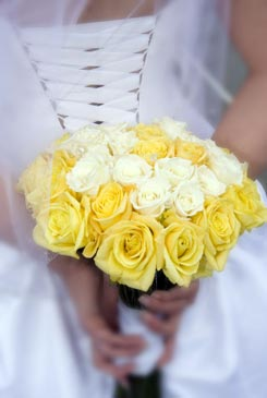 yellow bridal bouquet pictures